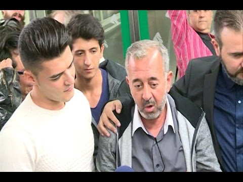 Syrian refugee tripped in Hungary arrives in Madrid