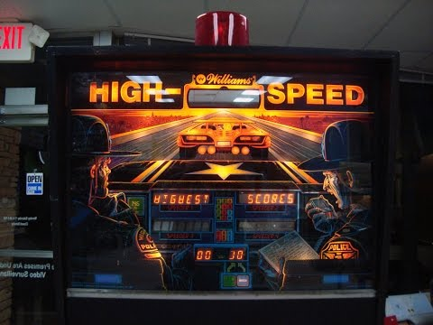 1986 Williams High Speed Pinball!  Steve Ritchie Classic - Artwork, Gameplay, Design Video