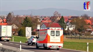 Responding Red Cross Ambulance Code 3 / RK-Rems-Murr RTW Alarmfahrt B 14, Germany, 2017.