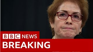 Trump impeachment inquiry: Ex-US ambassador 'threatened' by Trump testifies - BBC News