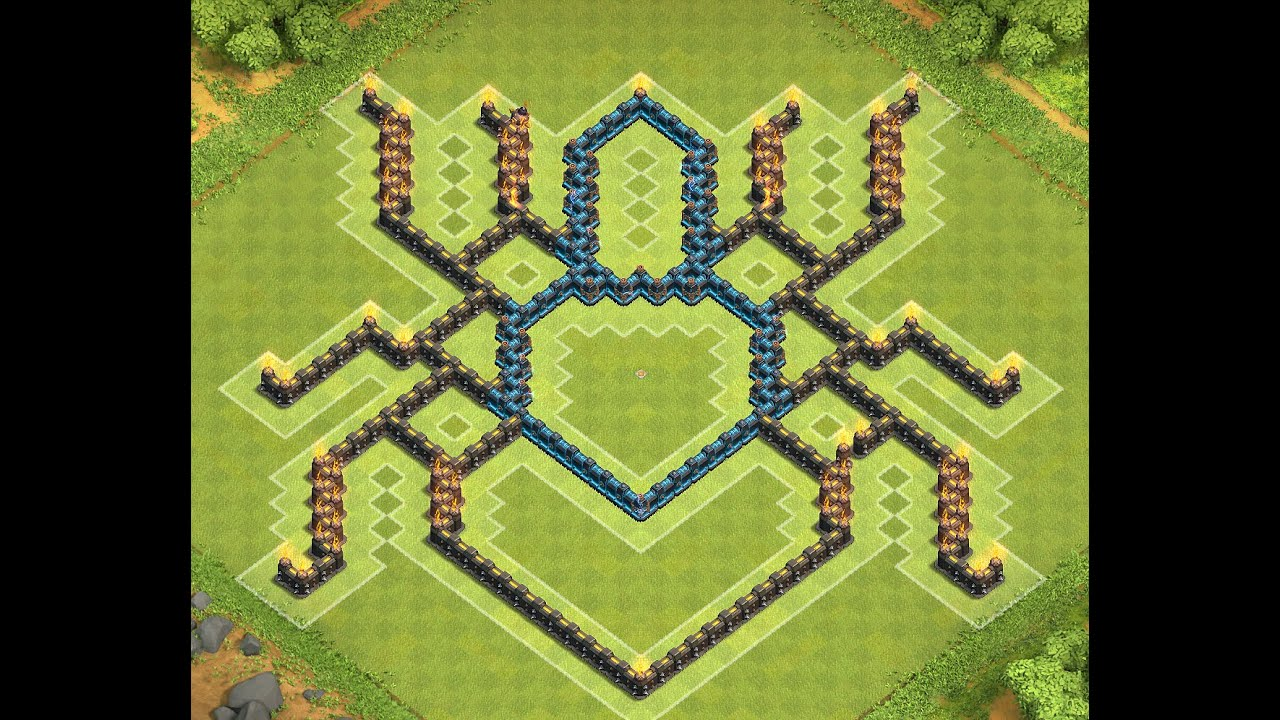 Clash of clans th10 spider base youtube
