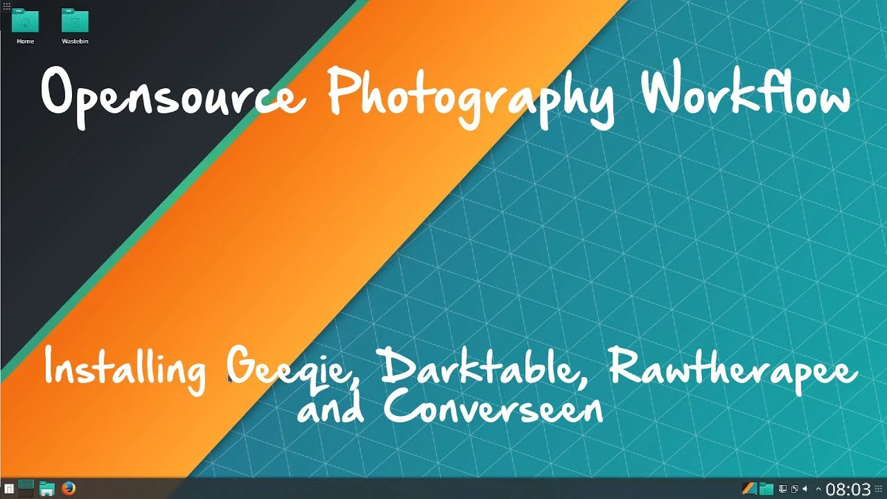 Opensource Photography Workflow: Installing Photo Tools