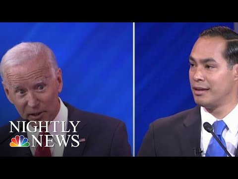 Castro Appears To Take A Shot At Bidens Age During Heated Exchange At Debate  NBC Nightly News