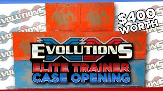 pokemon cards xy evolutions elite trainer box case opening with 80 booster packs