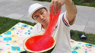 LoveStar sneak a camera with watermelon slime