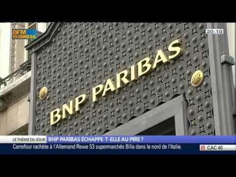 Emission BFM Business, La BNP Paribas échappe t-elle au pire ?
