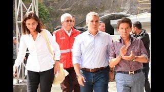 """Presidente Duque visita el Túnel de Oriente, obra de la que se siente """"profundamente orgulloso"""
