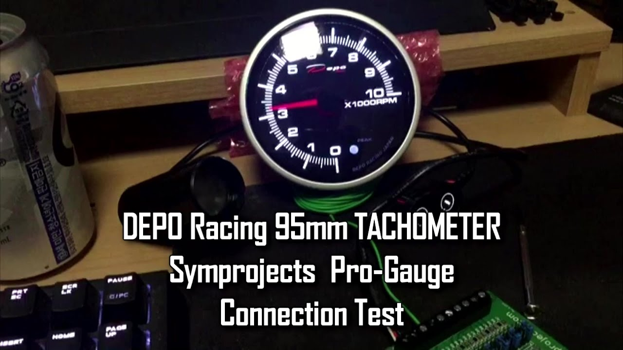 Depo Racing Gauge : Symprojects depo racing mm tachometer gauge test