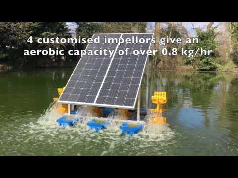 Solar Powered Paddlewheel - UK Based