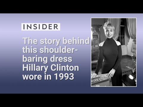 "Hillary Clinton's ""cold shoulder"" dress from 1993"