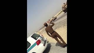 تحيه وفاء من رجل أمن الطرق لزملاءه ابطال الجيش السعودي
