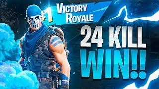 CRAZY 24 KILL WIN! (39 Total Kills) - Fortnite Battle Royale