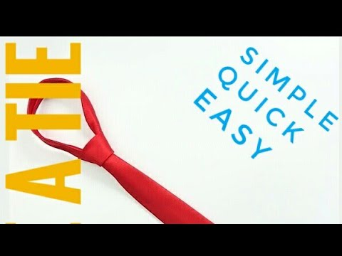 How To Tie A Tie Simple Easy And Fast Way Youtube