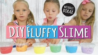 How to Make DIY Fluffy Slime  No Borax Slime Party    Easy Kids Craft