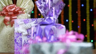 Bokeh shot of colorful gift boxes on the occasion of Diwali - the festival of India