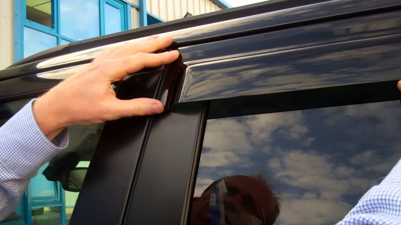 Side Window Deflectors >> How to fit wind deflectors to a Range Rover Sport - YouTube