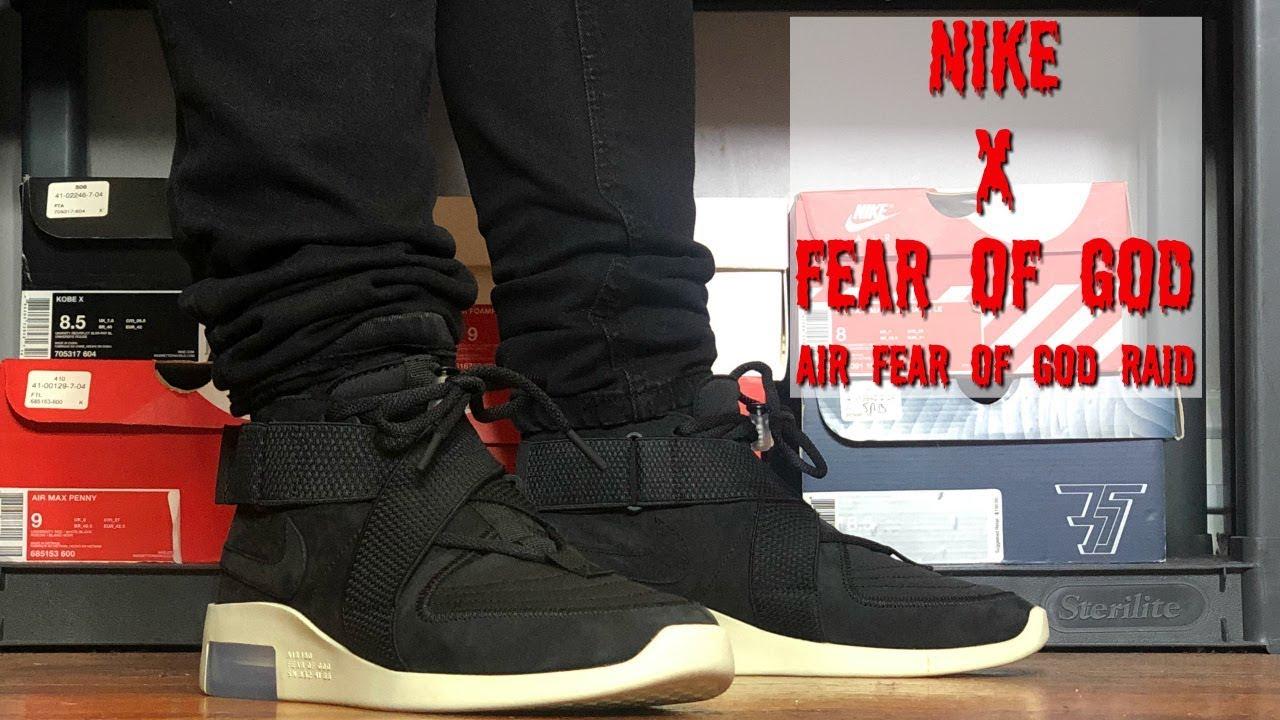fear of god x nike air raid