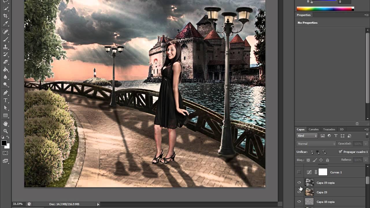 Montaje en PhotoShop Cs6 @NewDinamic - YouTube
