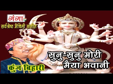 Maithlili Devigeet   सुनु सुनु मोरी मैया भवानी   Maithili Songs   Kunj Bihari  