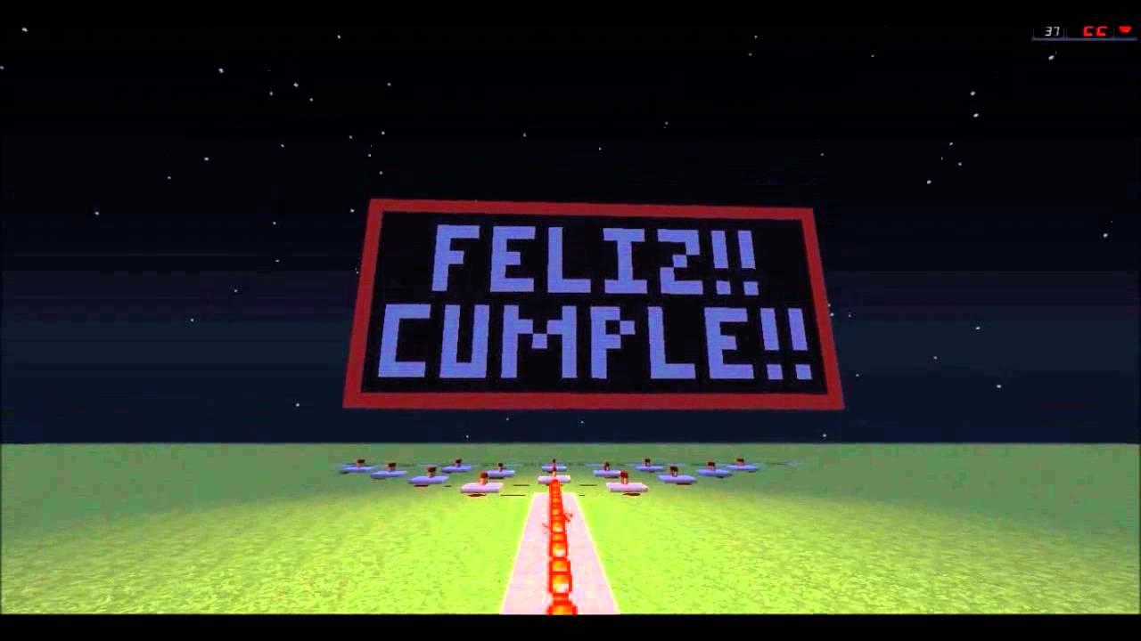 Feliz Cumpleaños Versión Minecraft A Un Amigo