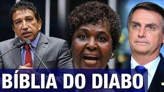 Magno Malta e Bolsonaro retrucam petista Benedita após ela falar em 'derramamento de sangue'