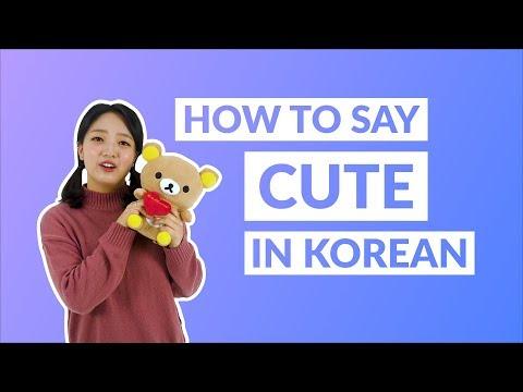 How to say oppa is so cute in korean