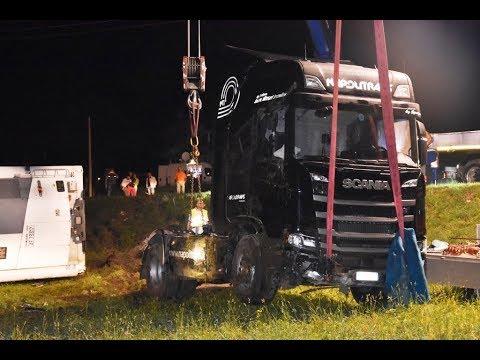 Ribaltamento Camion semirimorchio - Pasturo