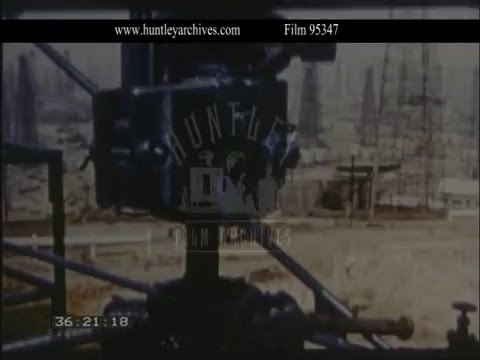 Oil Fields Gulf of Mexico, 1950s - Film 95347