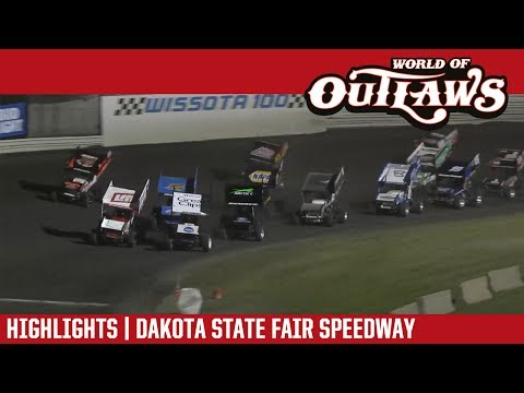 World of Outlaws Craftsman Sprint Cars Dakota State Fair Speedway July 1, 2017 | HIGHLIGHTS
