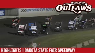 World of Outlaws Craftsman Sprint Cars Dakota State Fair Speedway July 1, 2017 | HIGHLIGHTS