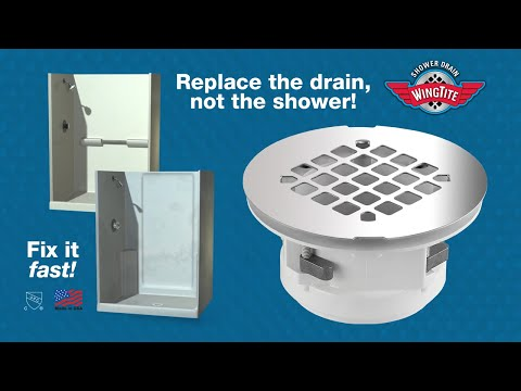 Wingtite Fix Leaking Shower Drain Youtube