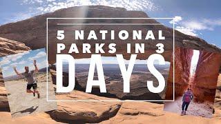 Utah's 5 National Paŗks in 3 Days Road Trip
