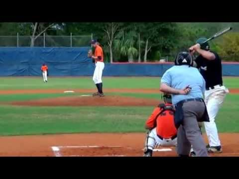 Knuckleball RHP James Holle South Florida State College 10-28-15