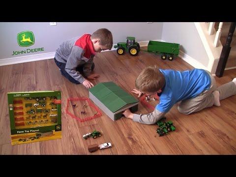 Unboxing - John Deere Farm Toy Playset