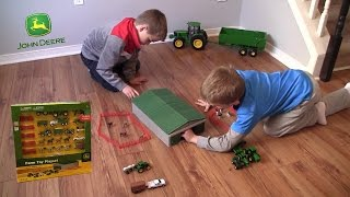 Unboxing - John Deere Farm Toy Playset