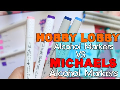 Hobby Lobby Alcohol Markers Vs Michaels Alcohol Markers