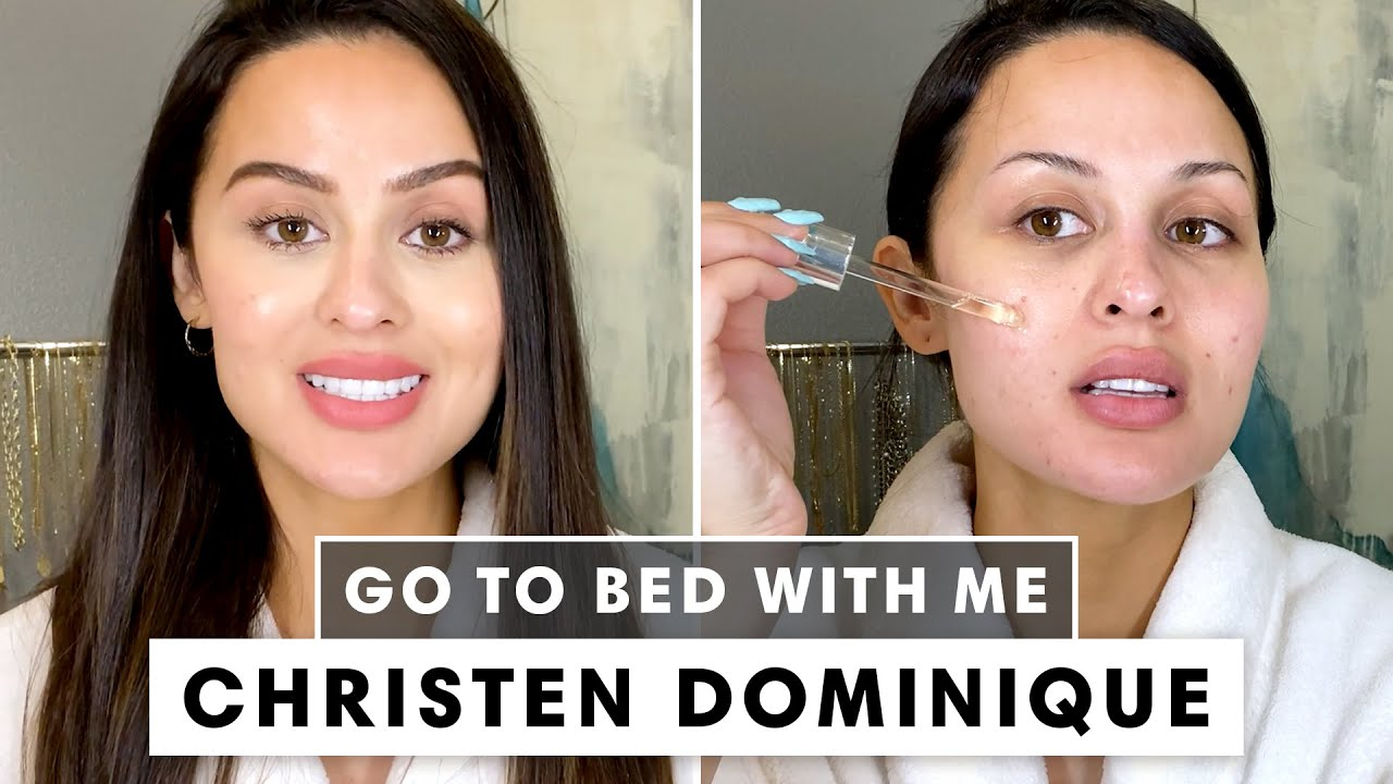 Christen Dominique's 7-Step Nighttime Skincare Routine | Go To Bed With Me | Harper's BAZAAR