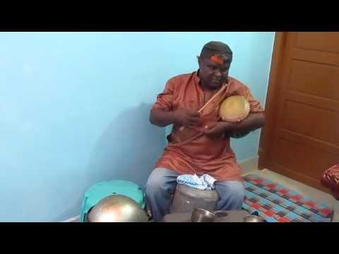 Drummer Nagarajan Water sound and udukkai