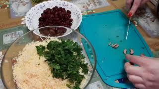 Нежный и легкий салат с красной фасолью.