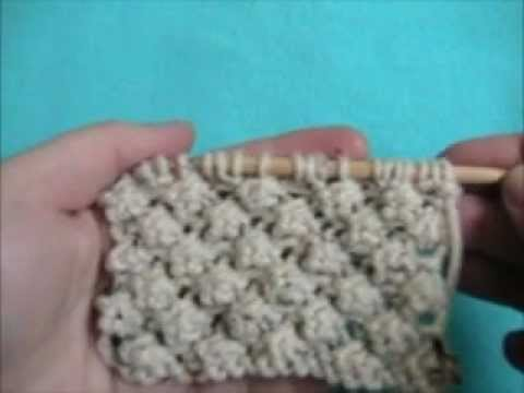 Trinity Stitch Knit Hat Pattern : Knitting How To: Trinity Stitch - YouTube