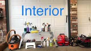 Basics and More for Interior Detailing setup