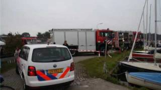 Boot in brand in Nunspeet