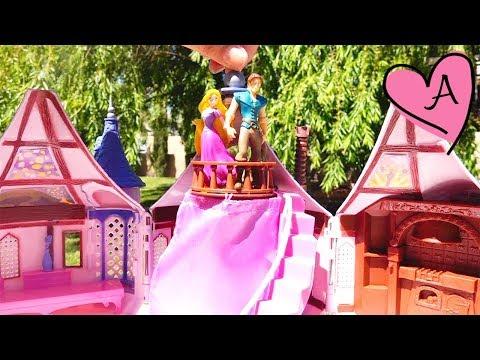Juguetes de Princesas Disney, torre de Rapunzel y compras cuando llevé los neonatos a Disneylandia
