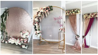 Diy Unboxing & Decorating Aliexpress Grid Arch Diy  How I Stitch My Curtains Diy  Wedding Decor