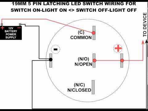5 Pole LED push button wiring diagram  YouTube