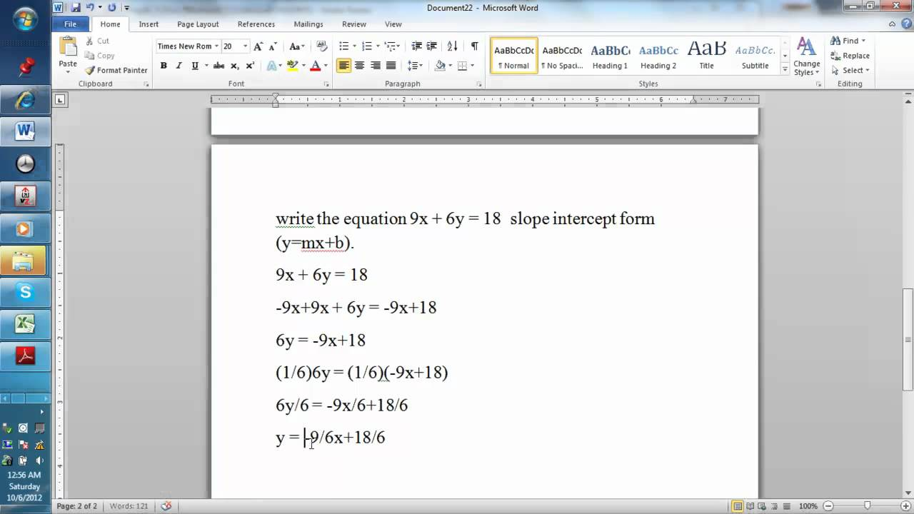 Find the intercepts for 9x 6y 18 and graph the equation using find the intercepts for 9x 6y 18 and graph the equation using the slope intercept form falaconquin