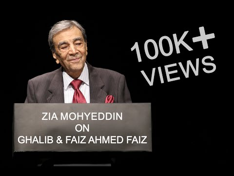 Zia Mohyeddin read the poetry of literary icons Mirza Ghalib & Faiz Ahmed Faiz