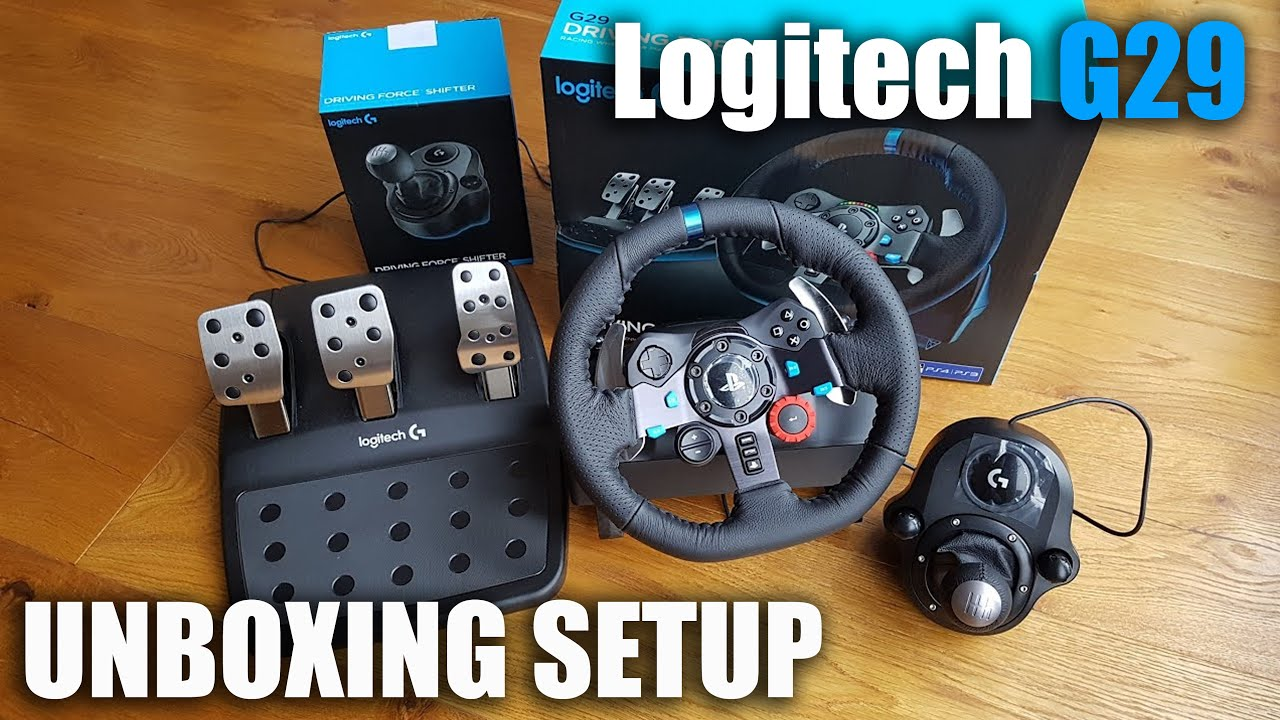 e9c03882e7f Unboxing and setup of a Logitech G29 steering wheel for a PS3/PS4/PC ...