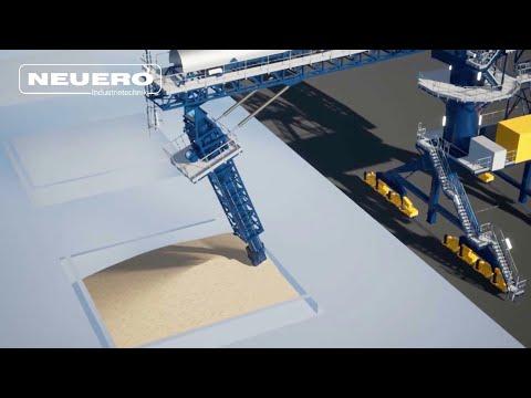 NEUERO Ship Loader   *Grain* KIKO (Kick-In Kick-Out)   Ship Loading Process