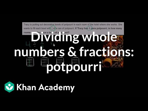 Dividing Whole Numbers And Fractions: Potpourri | Fractions | Pre-Algebra | Khan Academy